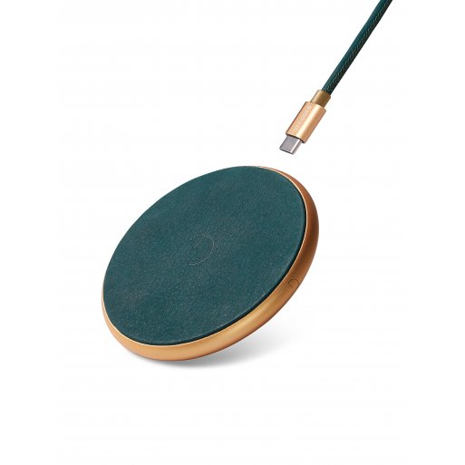 iPhone Ladestation Decoded Leather Wireless Charger - Grün