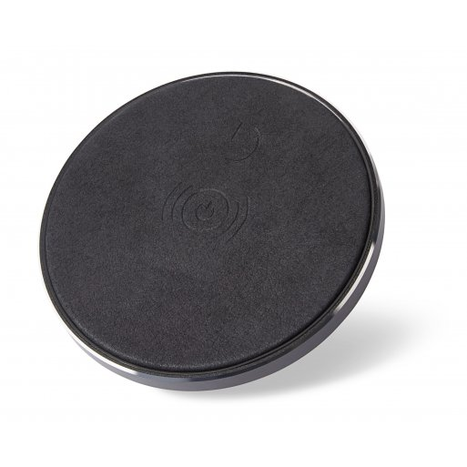 iPhone Ladestation Decoded Leather Wireless Charger - Schwarz