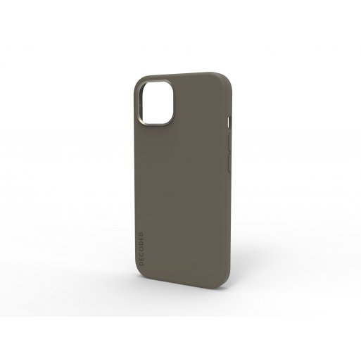 iPhone 13 Handyhülle Decoded Silicone MagSafe Backcover - Dunkelgrau