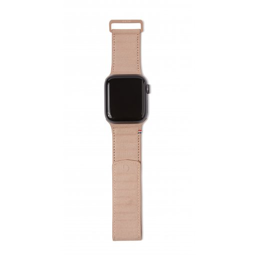 Apple Watch 5 44mm Armband Decoded Traction Leather Strap 42/44mm - Hellbraun