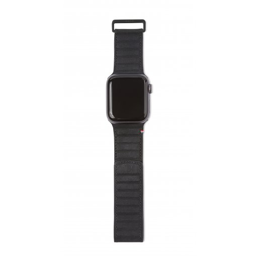 Apple Watch 5 44mm Armband Decoded Traction Leather Strap 42/44mm - Schwarz