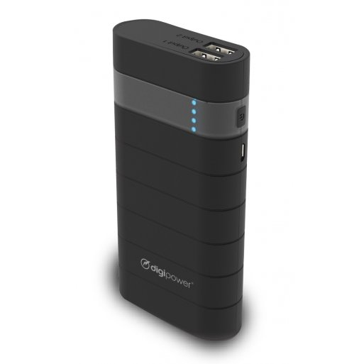 iPhone Powerbank Digipower 13'000mAh Powerbank - Schwarz-Grün