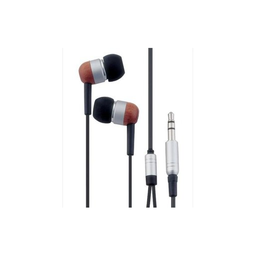 iPad Kopfhörer DMX In-Ear Kopfhörer aus Holz - Braun