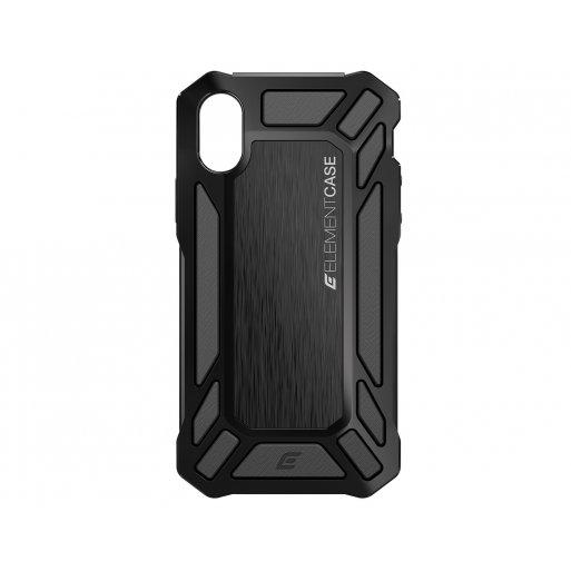 iPhone XS Handyhülle ElementCase Roll Cage - Schwarz
