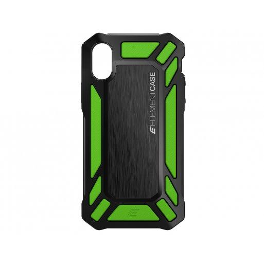 iPhone XS Handyhülle ElementCase Roll Cage - Schwarz-Grün