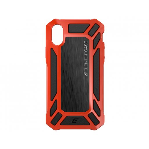 iPhone XS Handyhülle ElementCase Roll Cage - Schwarz-Rot