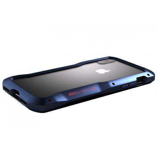 iPhone XS Handyhülle ElementCase Vapor S - Dunkelblau