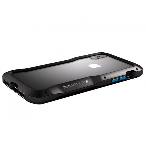 iPhone XS Max Handyhülle ElementCase Vapor S - Schwarz