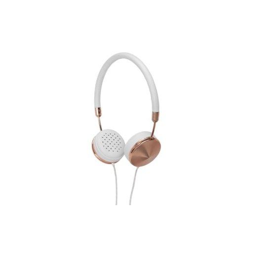 iPhone Kopfhörer Frends Layla - Weiss-Rose Gold