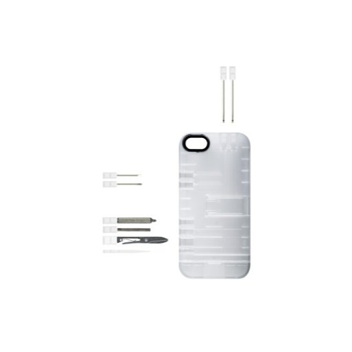 iPhone 5 Handyhülle IN1Case Multifunktions-Case - Transparent-Weiss