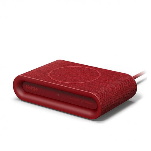 iPhone Ladestation iOttie iON Wireless Fast Charging Pad Plus - Rot