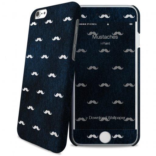 iPhone 6 Handyhülle iPaint Hard Case + Skin - Blau