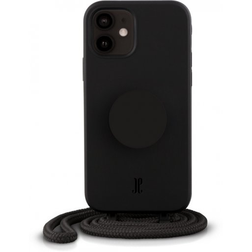 iPhone 12 mini Handyhülle Just Elegance Necklace Case + PopSockets - Black