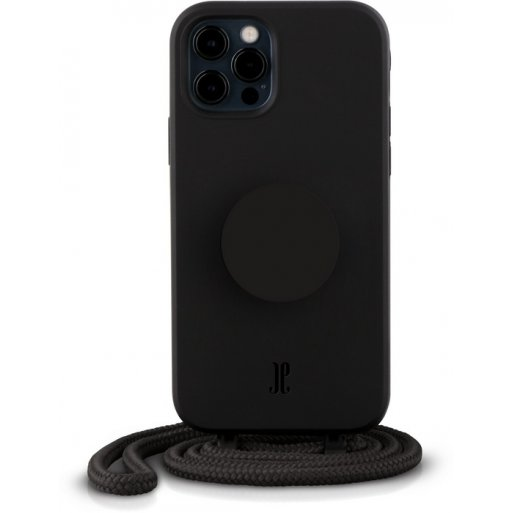 iPhone 12 Pro Max Handyhülle Just Elegance Necklace Case + PopSockets - Black