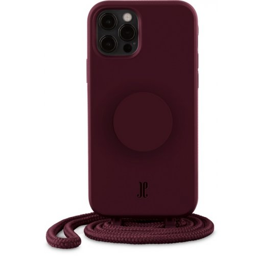 iPhone 12 Handyhülle Just Elegance Necklace Case + PopSockets - Classic wine