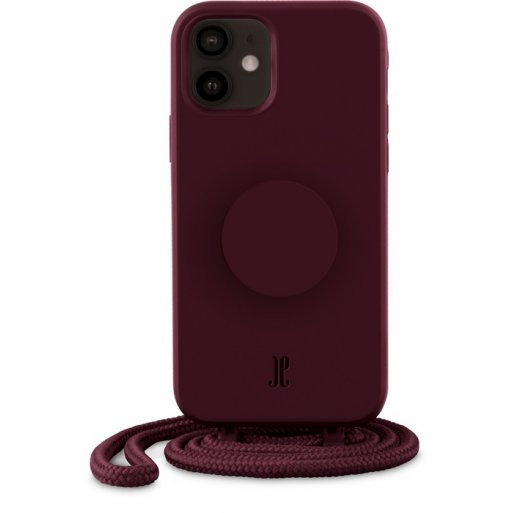 iPhone 12 mini Handyhülle Just Elegance Necklace Case + PopSockets - Classic wine