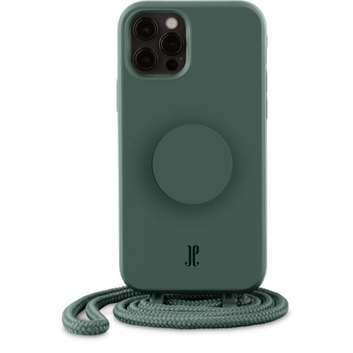 iPhone 12 Handyhülle Just Elegance Necklace Case + PopSockets - Forest green