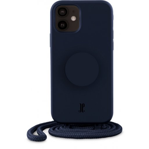 iPhone 12 mini Handyhülle Just Elegance Necklace Case + PopSockets - Navy blue