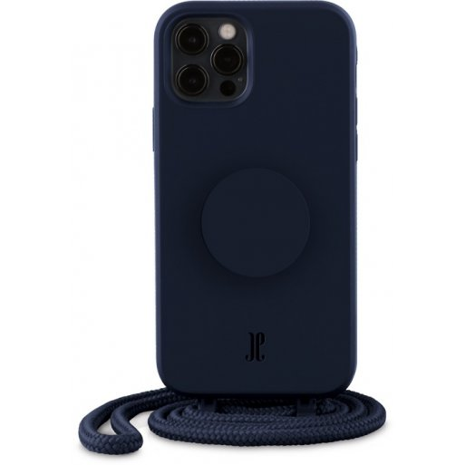 iPhone 12 Pro Max Handyhülle Just Elegance Necklace Case + PopSockets - Navy blue