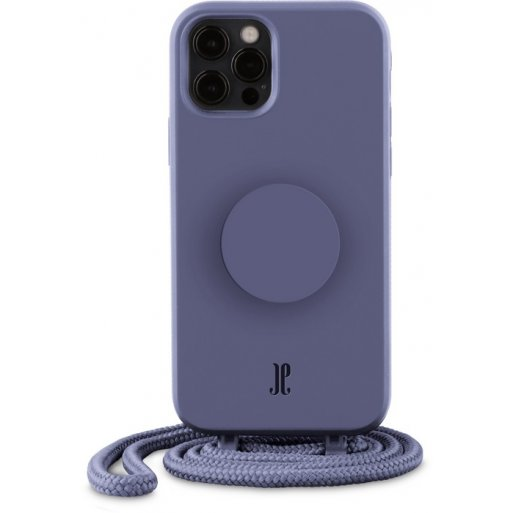 iPhone 12 Pro Max Handyhülle Just Elegance Necklace Case + PopSockets - Purple