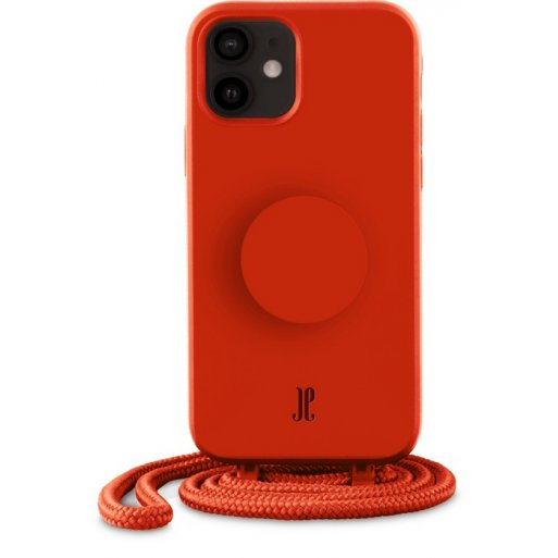 iPhone 12 mini Handyhülle Just Elegance Necklace Case + PopSockets - Red