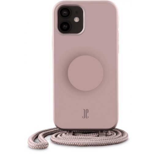iPhone 12 mini Handyhülle Just Elegance Necklace Case + PopSockets - Rose breath