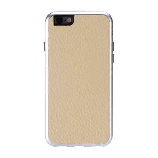 iPhone 6 Handyhülle Just Mobile AluFrame Leather - Gold
