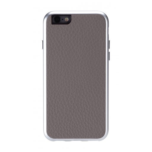 iPhone 6S Handyhülle Just Mobile AluFrame Leather - Grau