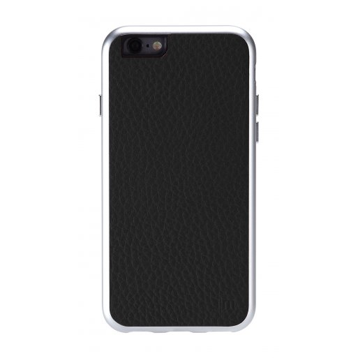 iPhone 6S Handyhülle Just Mobile AluFrame Leather - Schwarz
