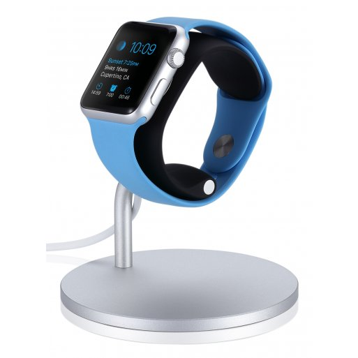 Apple Watch Ladestation Just Mobile Lounge Dock für Apple Watch - Silber