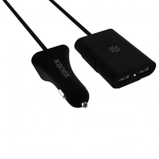 iPad Autoladegerät Kanex 4-Port USB Car Charger - Schwarz