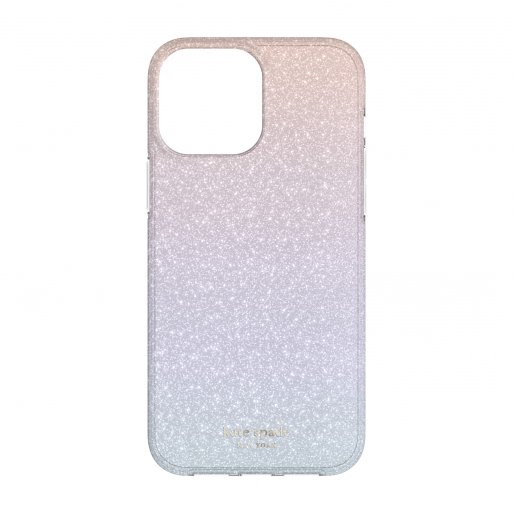 iPhone 13 Pro Max Handyhülle Kate Spade New York Protective Hardshell Case for MagSafe - Hellblau-Rosa
