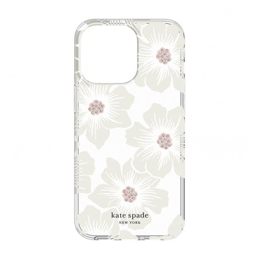 iPhone 13 Pro Handyhülle Kate Spade New York Protective Hardshell Case - Transparent-Weiss