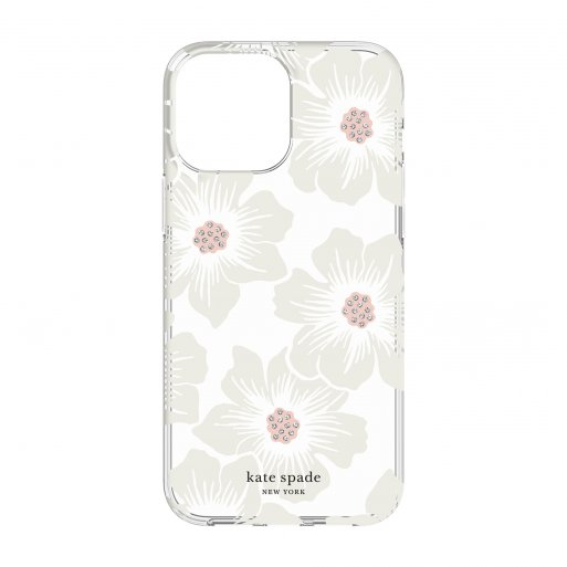 iPhone 13 Pro Max Handyhülle Kate Spade New York Protective Hardshell Case - Transparent-Weiss