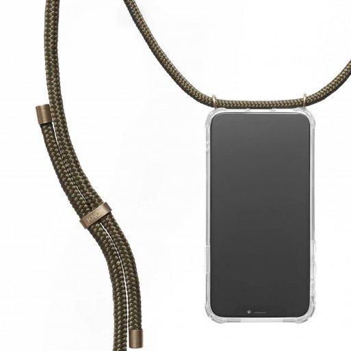 iPhone 13 Pro Max Handyhülle Knok iPhone Necklace - Dunkelgrün