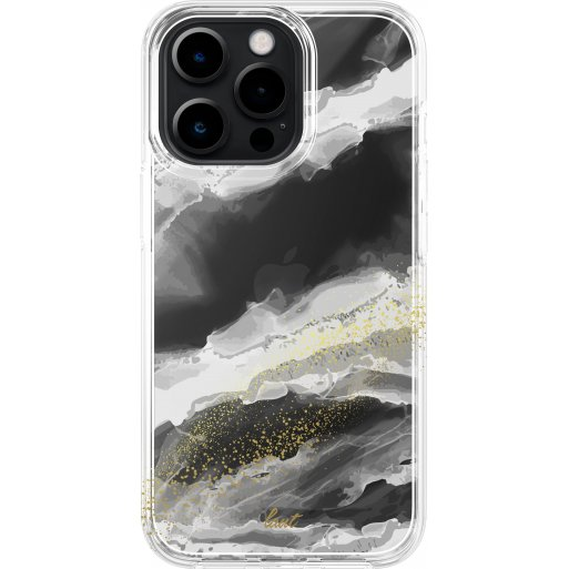 iPhone 13 Pro Max Handyhülle LAUT CRYSTAL INK - Weiss-Gold
