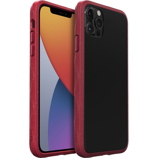 iPhone 12 Pro Max Handyhülle LAUT CRYSTAL MATTER IMPKT- Hardcase mit schlankem Profil & starkem Aufprallschutz bei Stürzen und Stössen für iPhone 12 Pro Max - Rot