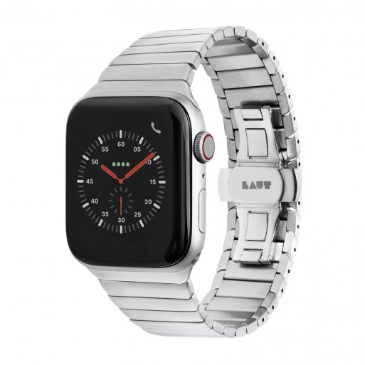 Apple Watch 5 44mm Armband LAUT LINKS Armband 42/44mm - Silber