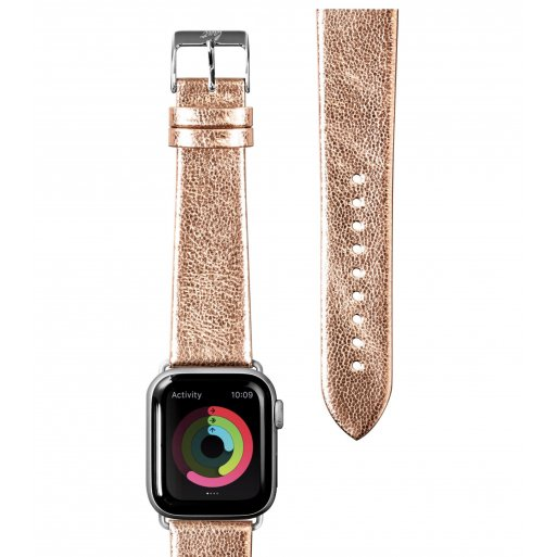 Apple Watch 5 40mm Armband LAUT METALLIC LEATHER Armband 38/40mm - Gold
