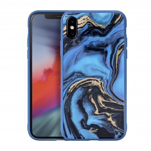 iPhone XR Handyhülle LAUT MINERAL GLASS - Dunkelblau