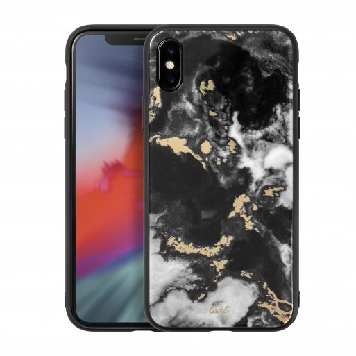 iPhone XR Handyhülle LAUT MINERAL GLASS - Schwarz