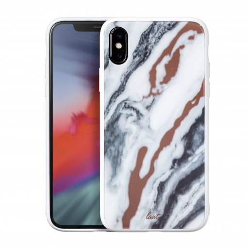 iPhone XR Handyhülle LAUT MINERAL GLASS - Weiss