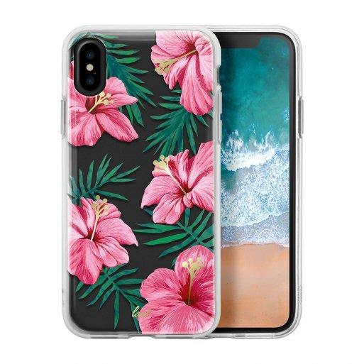 iPhone XS Handyhülle LAUT POP EXOTIC Case inkl. 2x Screen Guards für ultimativen Schutz und einem vibranten Design für Ihr iPhone X/Xs (5.8'') - Weiss-Pink