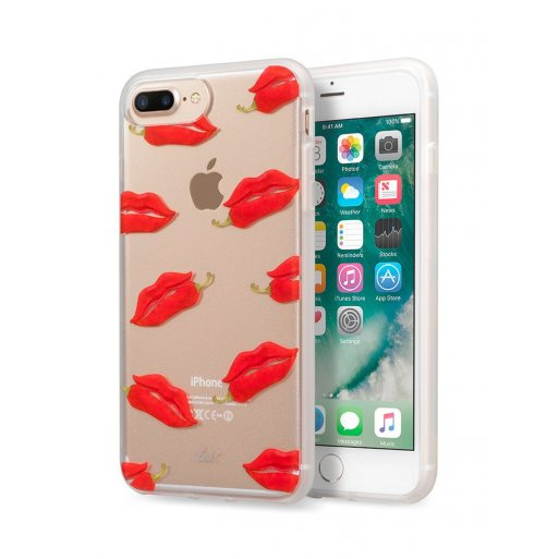 iPhone 7 Plus Handyhülle LAUT POP-INK Case inkl. 1x Screen Guard für ultimativen Schutz und einem vibranten Design für Ihr iPhone 6 Plus, 7 Plus & 8 Plus - Transparent