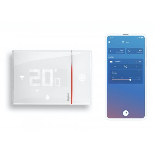iPhone Gadget Legrand with Netatmo Smarther 2 Raumthermostat (UP) - Weiss