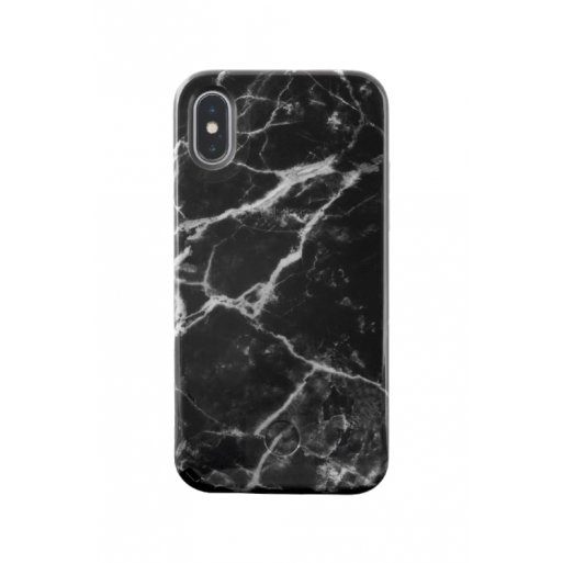 iPhone X Handyhülle LuMee LED Selfie Case - Schwarz