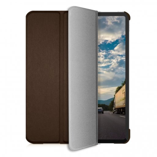 iPad Pro 11 (2020) Hülle Macally Bookstand Case - Braun