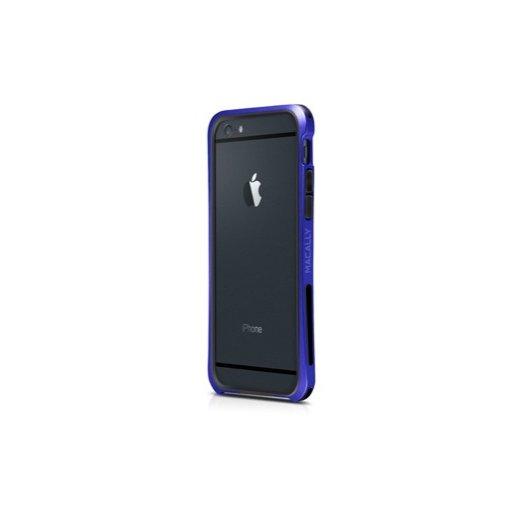 iPhone 6 Handyhülle Macally Flex Frame mit softtouch für verbesserten Schutz für iPhone 6/6S (4.7) - Blau