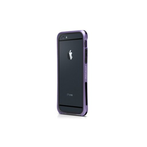 iPhone 6 Handyhülle Macally Flex Frame mit softtouch für verbesserten Schutz für iPhone 6/6S (4.7) - Purple