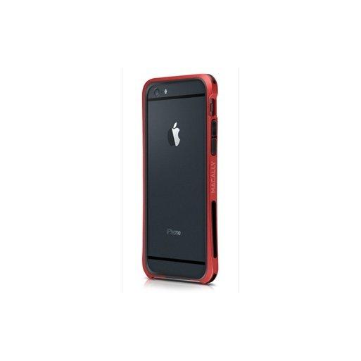 iPhone 6 Handyhülle Macally Flex Frame mit softtouch für verbesserten Schutz für iPhone 6/6S (4.7) - Rot
